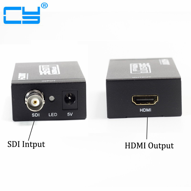 3G SDI to HDMI Converter Adapter SDI Extender for driving HDMI Monitors with Power adapter 1080p 3g hdmi to sdi bnc converter sdi to hdmi converter hdmi sdi bnc extender over single 100m 328ft coaxial cables
