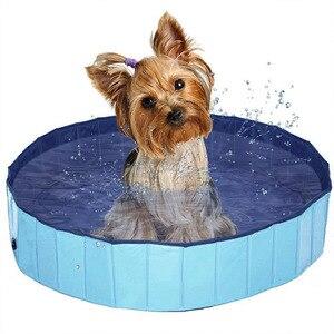 두꺼운 개 고양이 수영장 접이식 애완 동물 수영장 접이식 풀 고양이 목욕 분지 pvc 개 용품