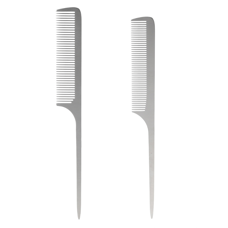1Pc Antistatic Barbers Comb Stainless Steel Hairdressing Mirror Professional Quality New Hot
