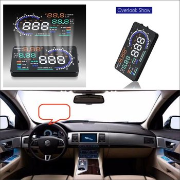 Car HUD Head Up Display For Jaguar F-Type/S-Type/X-Type/XF/XFR/XJ/XK Car Electronic HUD Display Projector Refkecting Windshield