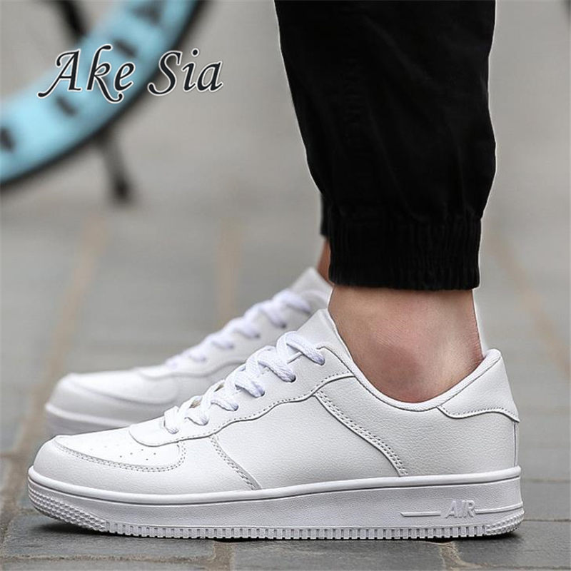 Ake Sia 2017 Spring/Autumn men movement casual shoes men White Low help breathable Plate shoes sneakers Lace-Up F276 spring autumn casual men s shoes fashion breathable white shoes men flat youth trendy sneakers