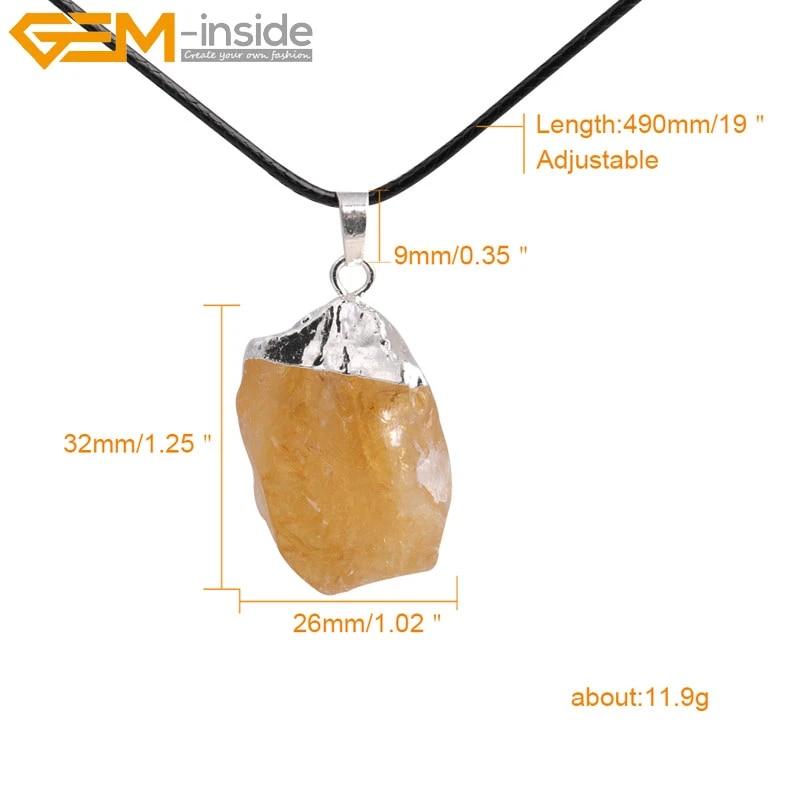 Geometric Barrel Quartz Stone Pendant Healing Necklace Crystal Reiki Jewellery