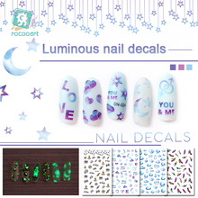 Get more info on the Rocooart  Latest Safety Luminous Nail Art Stickers With Moon Feather Star Pattern Nail Self-adhesive Stickers Manicure Decals