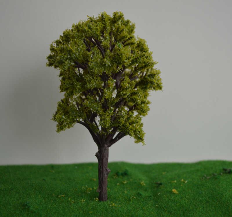 169MM żółty kolor zielony układ kolejowy model architektoniczny materiały do produkcji skala plastikowy model drzewa