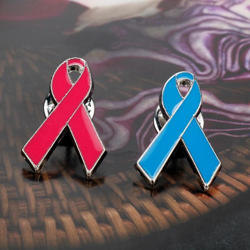 dongsheng Metal red ribbon badge HIV preventive AIDS awareness collar pin brooch-40 ...