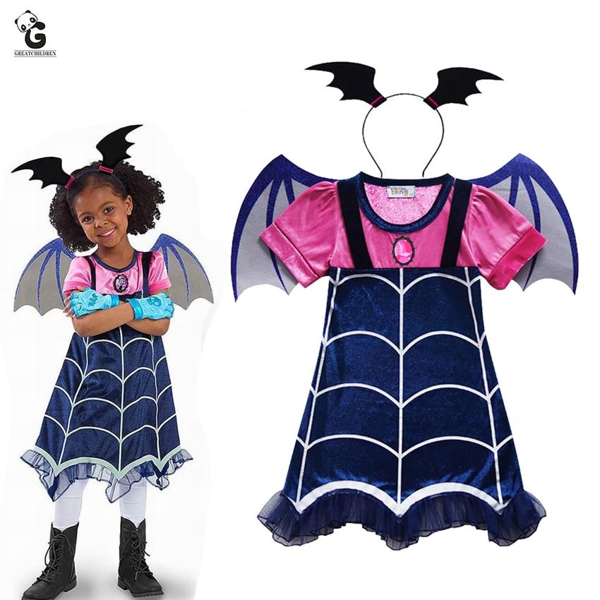 Vampirina Costumes Kids Girls Dresses Anime Costume Halloween Cosplay Carnival Party For Children Vampire Fancy Dress Girl