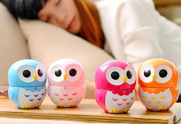 New Cute Owl Cartoon Kitchen Dial Timer 60 Minutes Cooking Mechanical Reminder Plastic free ship