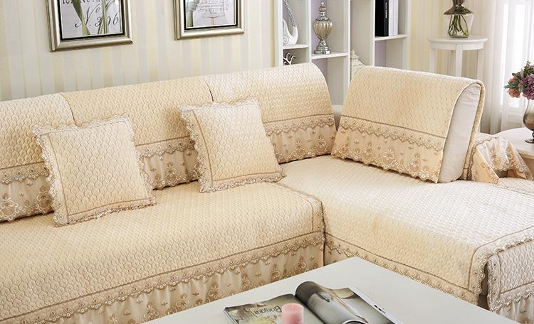 New Style Simple Pure Cotton Fabric Lace Sofa Cover Cushion Korean Textile Seat  Covers Towel For Home In Sofa Cover From Home U0026 Garden On Aliexpress.com ...