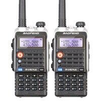 2PCS Baofeng BF-UVB2 Plus CB Radio Portable High Power Dual Band Two Way Radio Li-ion Battery LED Light Black Walkie Talkie