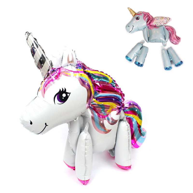 1pcs Baby shower 4D unicorn Horse Balloon My Little Pony Party Decoration Birthday Party Decorations Kids Happy Party kids(China)