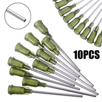 10pcs Syringe Needle Tip Dispensing Stainless Steel Needles with Luer Lock 14 Ga 1.5inch for Industrial Mixing Liquid|Epoxies|   -
