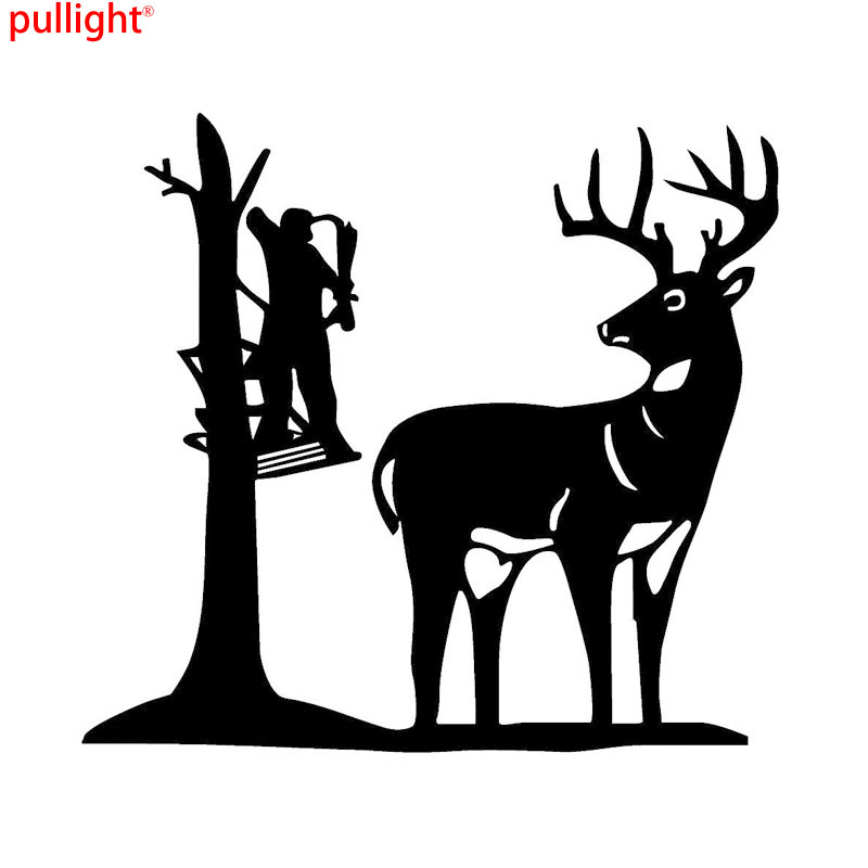 18.5*17CM Fashion Hunters Hunting Deer Car Stickers Covering The Body Reflective Vinyl Decals