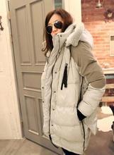 2015 Women Jacket Winter Overcoat Women'S Down Jacket Medium-Long Plus Szie Outerwear Thickening Down Coat