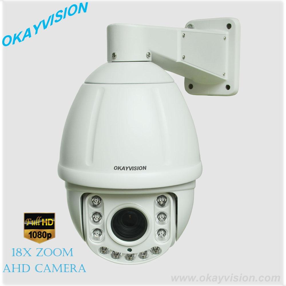 6 inch 1080P AHD Medium Speed Dome Camera outdoor & indoor RS485 18X optical Zoom full hd 1080P AHD ptz camera dahua full hd 30x ptz dome camera 1080p