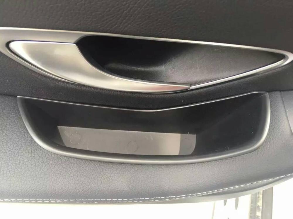 4pcs Car Armrest Box Door Handle Storage Glove Box Holder Container Organizer For Benz C Class W205 C180 C200 C250 C300 C400 C63