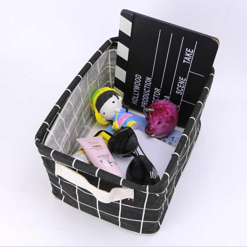 Dobrado Cesta de Armazenamento De Desktop Organizador Underwear Bra Saco de Armazenamento de brinquedos Para Roupa Cachecol Meias caixa de armazenamento Organizador Do Armário