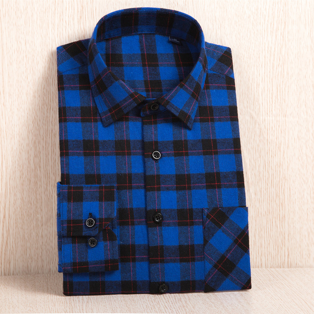 New Men's Plaid Flannel Shirt Plus Size 5XL 6XL Soft Comfortable Spring Male Slim Fit Business Casual Long-sleeved Shirts