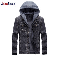 Mens Hooded Denim Jacket Winter Coats Jeans Jackets For Man Thicker Warm Outwear Overcoat Tops Brand
