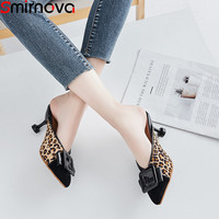 Smirnova big size 34 43 fashion shoes woman shallow pumps women shoes slingback high heels shoes sexy ladies prom shoes women