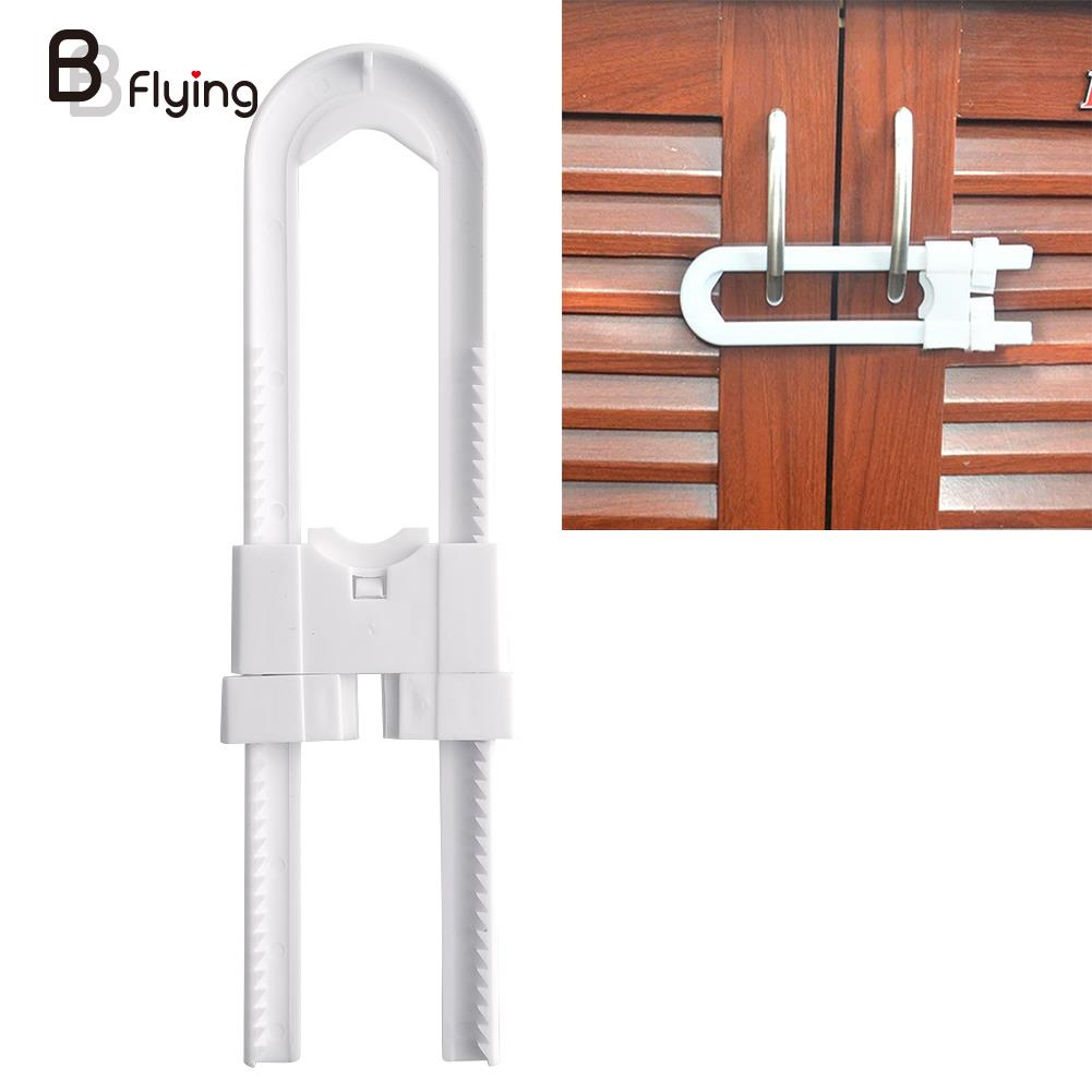 Child Infant Baby Kids Safety Locks Drawer Door Cabinet Cupboard Refrigerator Toilet U Shape Lock Key Bookcase Kid Protection safety 10 pcs cabinet drawer cupboard refrigerator toilet door closet plastic lock baby safety lockcare child safety atrq0140