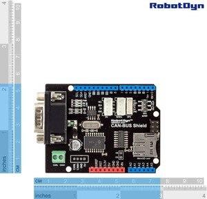 Image 4 - Щит CAN BUS. Совместим с Arduino. MCP2515 (CAN controller) и MCP2551 (CAN приемопередатчик), Подключение GPS. Устройство для чтения карт MicroSD.