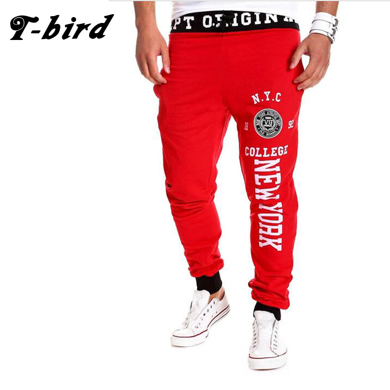 T-Bird New Fashion 2017 Joggers Men Brand New York Design Sweatpants Male Compression Pants Casual Tactical Pants Mens Calabasas
