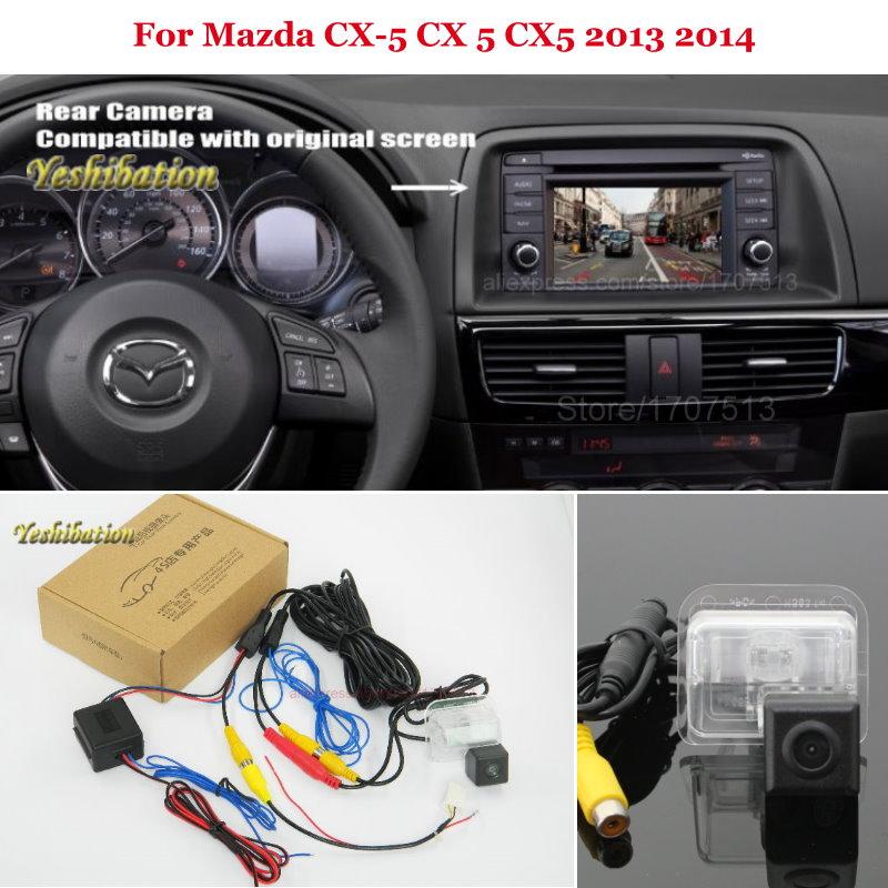 Rear View Camera For Mazda CX-5 CX 5 CX5 2013 2014 - Back Up Reverse Camera Sets RCA & Original Screen Compatible цена