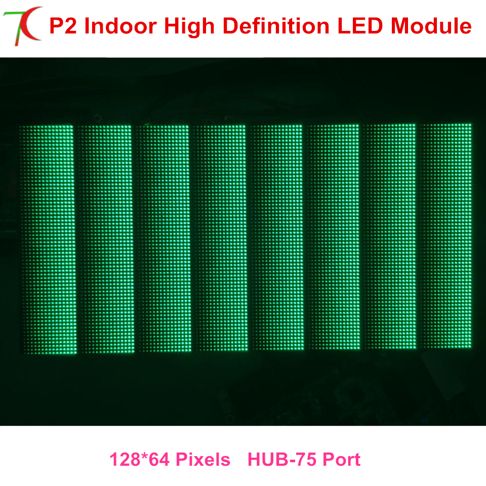 Xxx P2 256*128mm Indoor Full Color Led Modules For High Definition Led Display Video Wall,250.000dots/sqm,1300cd