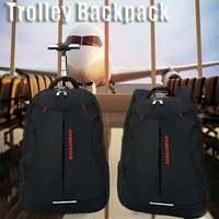 Men Oxford Travel Trolley Luggage Bags Large Capacity Waterproof Duffle Bag Women Wheeled Backpacks Business Laptop Backpack New