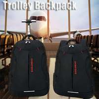 Men Oxford Travel Trolley Luggage Bags Large Capacity Waterproof Duffle Bag Women Wheeled Backpacks Business Laptop Backpack New