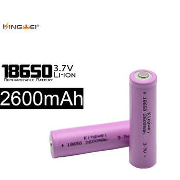 100pcs/lot 18650 3.7V 2600mah Lithium Battery Rechargeable Batteries For Powerbank Laser Pen Camera Flashlight Wholesale