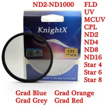 KnightX 52mm 58mm 67 77 Star CPL UV color nd CLOSE UP lens Filter for Canon Nikon D3100 D3200 D5100 d5200 d3300 100d 300d 1200d цены