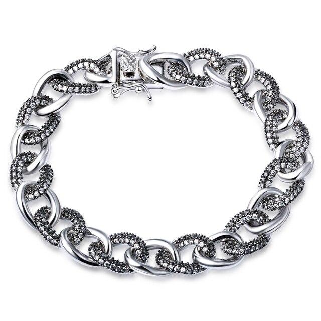 Новая мода Коренастый Большой звено цепи браслет Высочайшее качество Фантазии дамы свадьба браслет Бесплатная доставка
