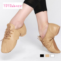 New Professional Jazz Dance Shoes Boots Women Men Kids Lace Up Dance Jazz Sneakers Leather Jazz