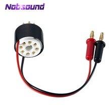 Nosound Amplificador de tubo de 8 pines, enchufe de prueba de sonda de corriente Bias para 6L6 6V6 EL34 KT88 6550
