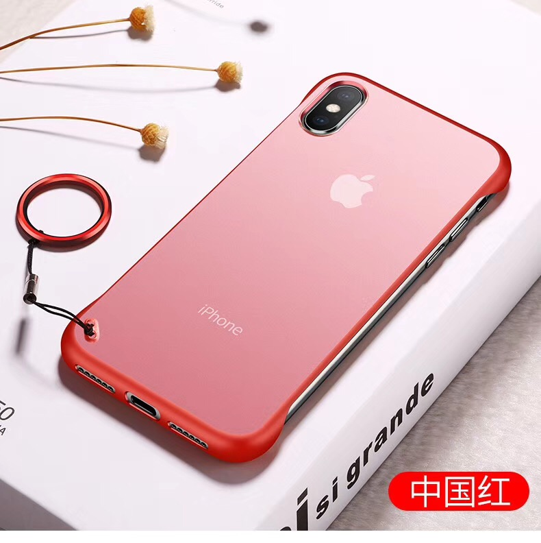 Transparent Hard PC Matte Case With Finger Ring For iPhone 6 7 8 Plus Ultra light Plastic Shockproof Cover For iPhone X XMAX XR in Fitted Cases from Cellphones Telecommunications