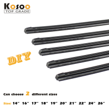 "Wiper Strips Auto Car Vehicle Insert Rubber Strip Blade (Refill) 8mm Soft 14"" 16"" 17"" 18"" 19"" 20"" 21"" 22"" 24"" 26"" 2pcs Styling"