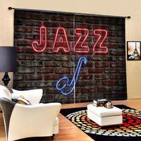 Tamanho personalizado Apagão 3D Janela Cortinas Para Sala de estar de Luxo tijolo Decoração cortinas cortinas para o quarto