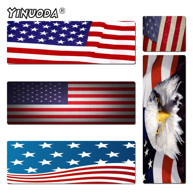 Yinuoda Personalized Cool Fashion US USA Flag Rubber Mousepad Size for 180*220 200*250 250*290 300*600 and 400*900*2mm