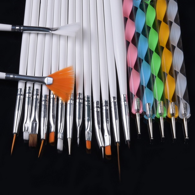 Qt Nail 20pcs set Art Design Painting Tool
