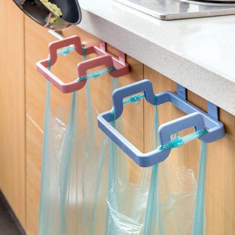Towel Rack Hanging Holder Trash Bag Organizer Kitchen Cabinet Cupboard Rack