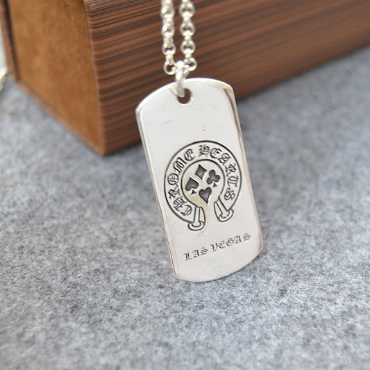 Sterling Silver Cross Military Medal Personality Male Necklace Simple Tag Pendant Female Influx Punk Youth Brand Pendant цена 2017