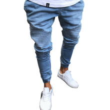 Fashion New Denim Men Hole Jeans Men Joggers Pants Hip Hop Mens Trousers Moletom Masculino Plus Size S~4XL Men Jeans size 32 44 hip hop pants plus size jeans leisure sports in men s trousers in europe and the men trousers