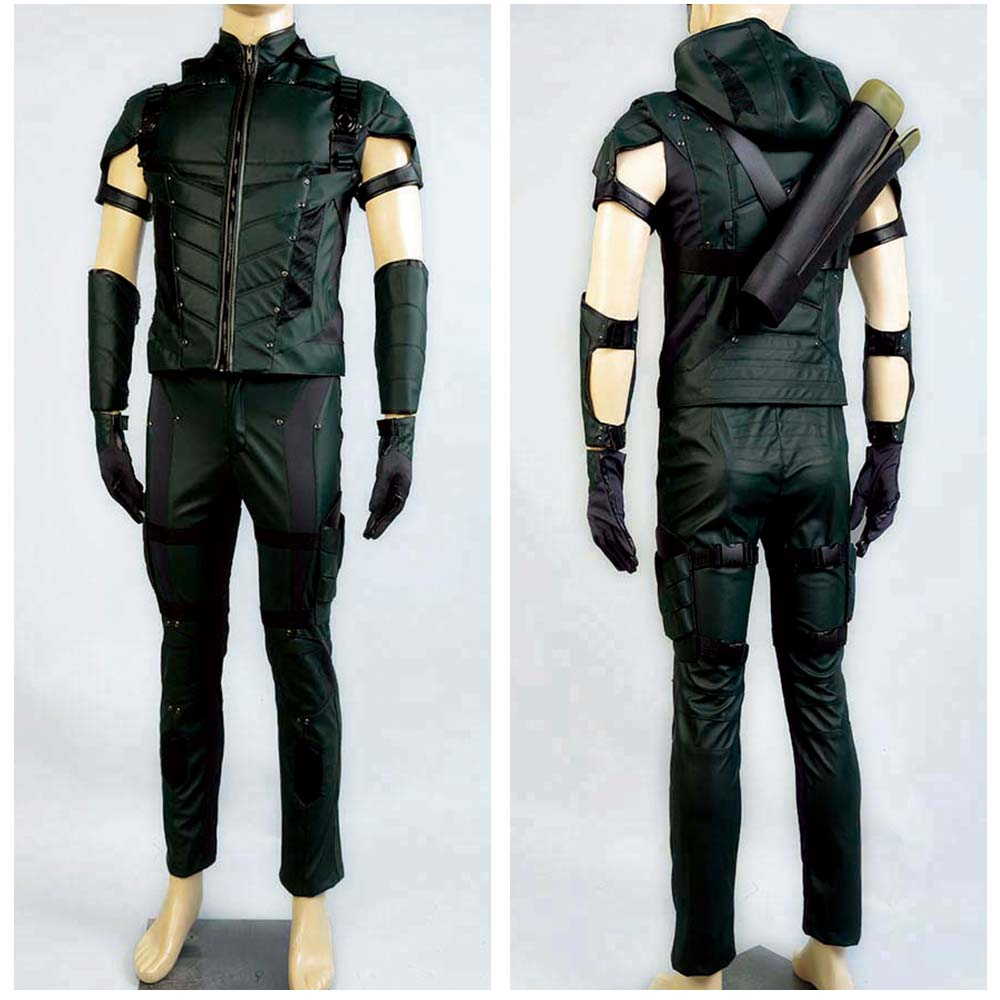 Green Arrow season 4 Cosplay Costume Superhero Oliver Queen green arrow costume leather suit Halloween costumes