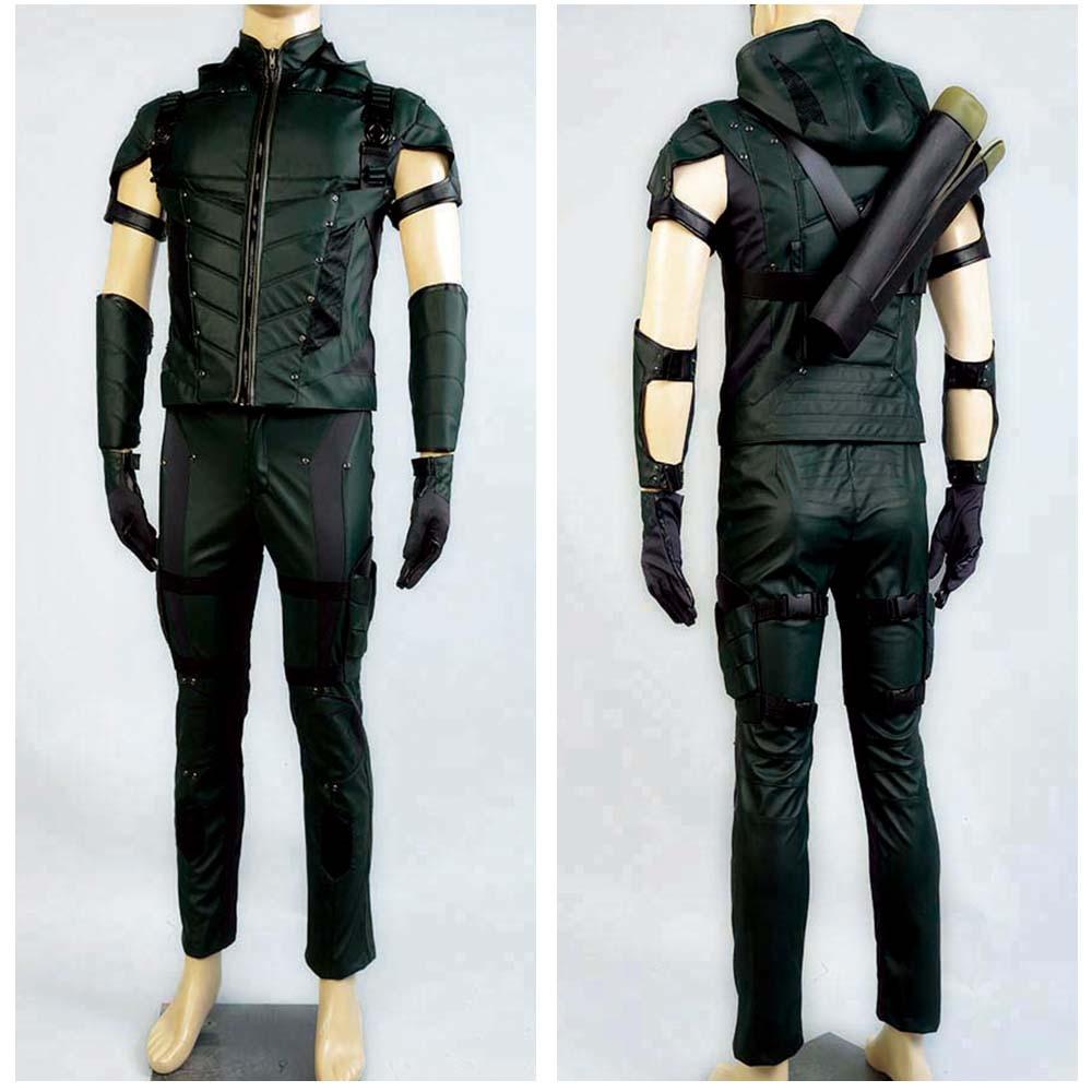 Green Arrow season 4 Cosplay Costume Superhero Oliver Queen green arrow costume leather suit Halloween costumes