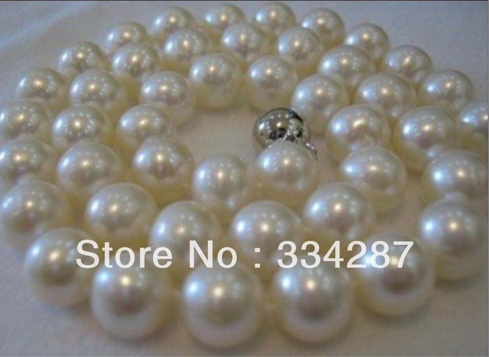Natural freshwater pearls AAA+ 9-10MM WHITE PEARL NECKLACE 18 INCH