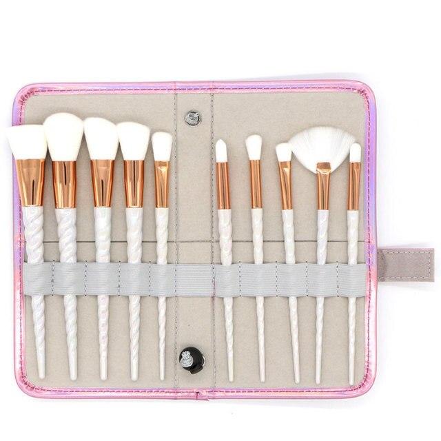 10Pcs/Bag Professional Makeup Brush Set Case Makeup Tools Bag Thread Powder Foundation Blush Brusher Eyebrow Make Up Brush Kit 3