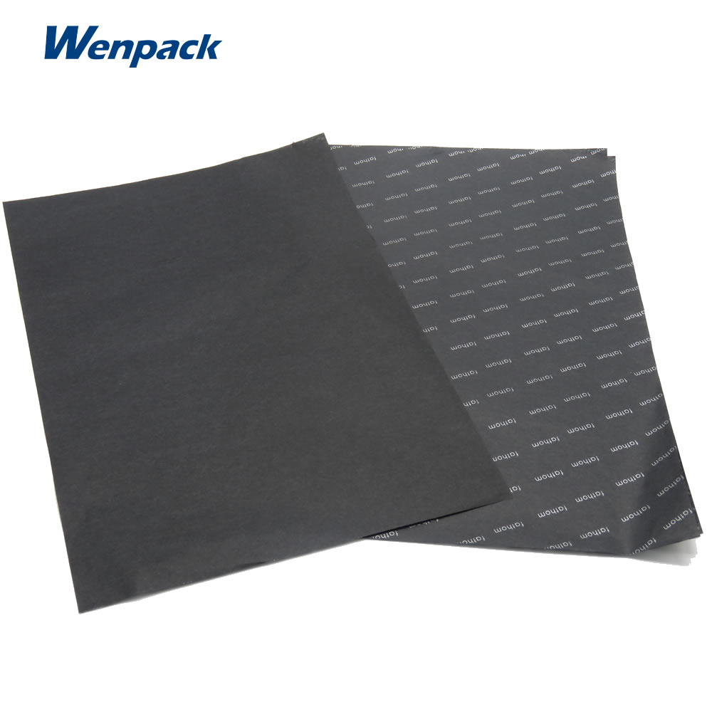 black tissue paper The tissue paper is acid-free and offers great reliability our tissue is a wonderful addition to any retail store our tissue paper can be used for a variety of applications ranging from breakage protection to crafting projects.