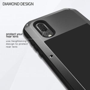 Image 3 - Liefde Mei Armor Metal Case Voor Huawei P20/P20 PRO/P20 Lite Cover Aluminium Krachtige Shockproof Cover met gehard Glas
