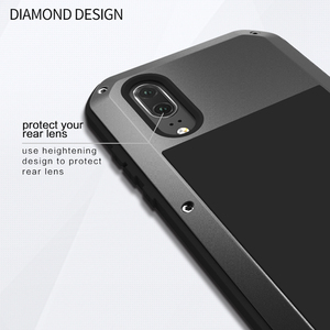 Image 3 - Love Mei Armor Metal Case For Huawei P20/P20 PRO/P20 Lite Cover Aluminum Powerful Shockproof Cover with Tempered Glass